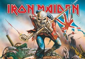 Iron Maiden The Trooper large fabric poster / flag 1100mm x 750mm (hr)